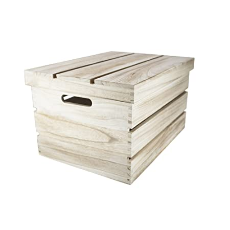 West5products Medium Rustic Vintage Wooden Storage Crates Chests