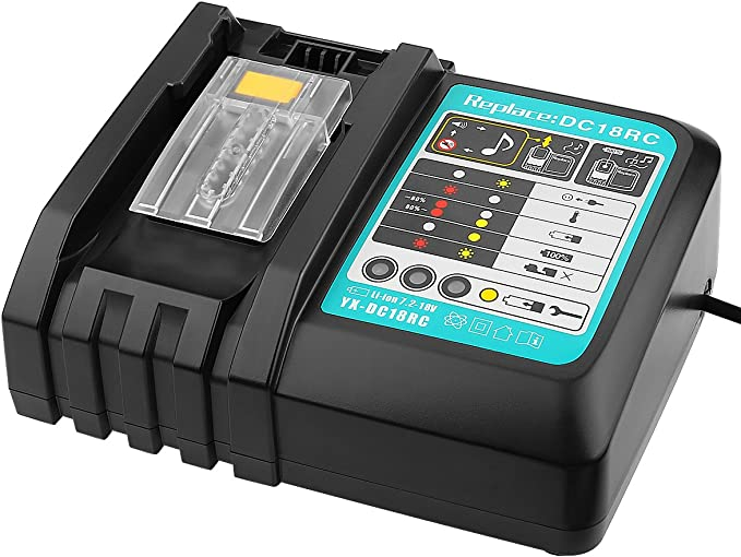 Makita 18 V DHP458 Combi Drill 1 BL1850 Batterie 110 V DC18RC Chargeur CASE