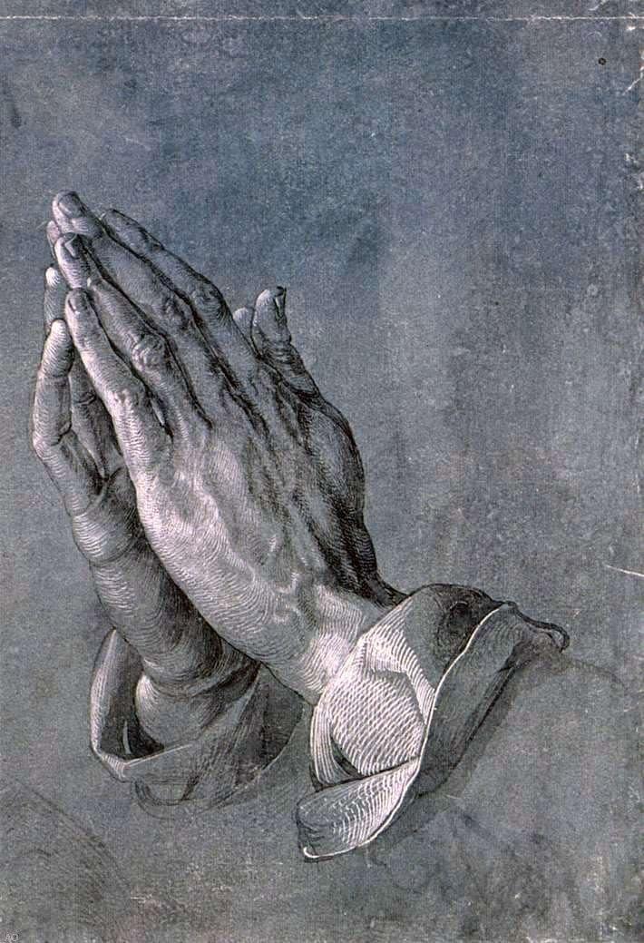 Albrecht Durer Study of an Apostle's Hands (Praying Hands) - 16
