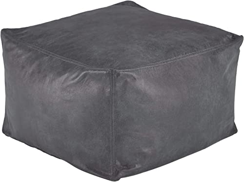 Signature Design by Ashley Ashley Furniture Signature Design – Lucas Pouf Ottoman, Slate