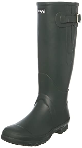 TOGGI Wanderer Classic Plus - Botas de agua de caucho unisex, color Verde, talla 42 EU