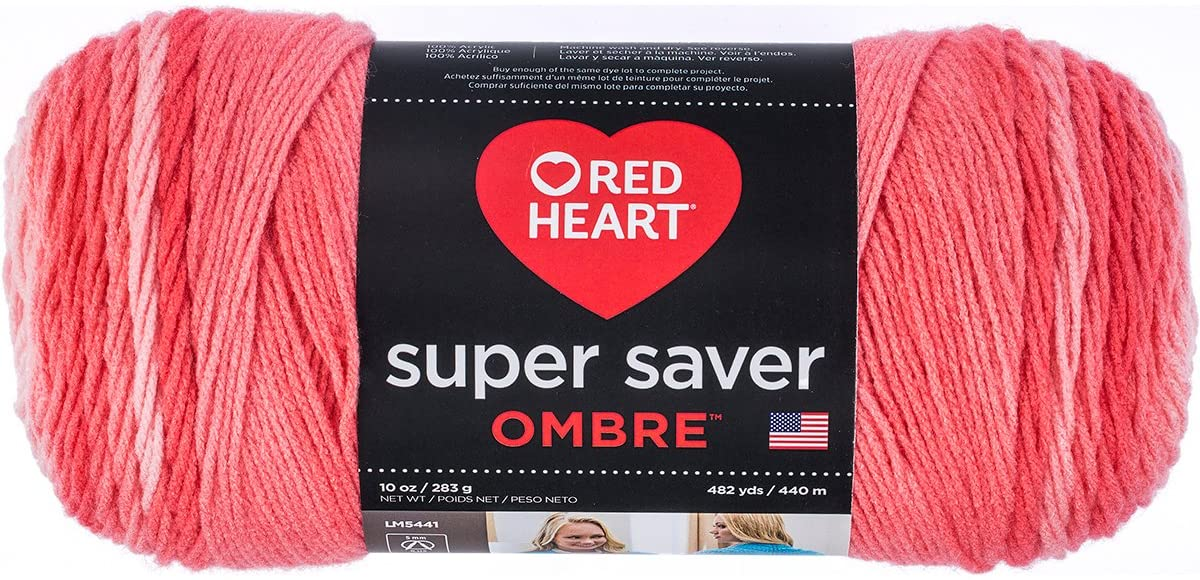 Red Heart E305.3964 Super Saver Ombre Yarn Anthracite