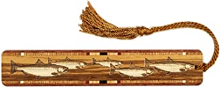 product image for Fish - Salmon - Trout - Engraved Wooden Bookmark with Copper Tassel