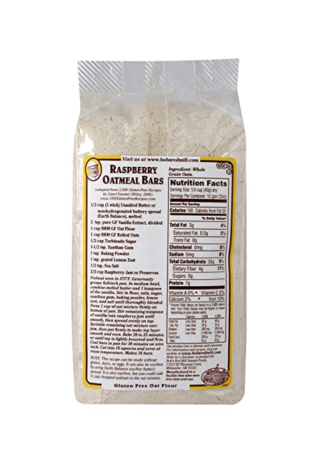 Bobs Red Mill Harina de avena sin gluten: Amazon.com ...