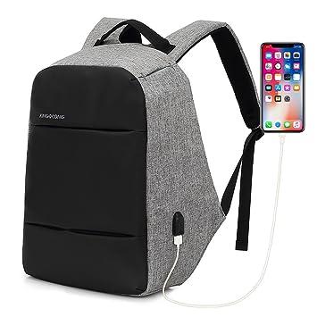31d3362cbf KINGSLONG Antivol Sac à Dos Homme Sac à Dos pour Ordinateur Portable Sac  avec Chargeur USB