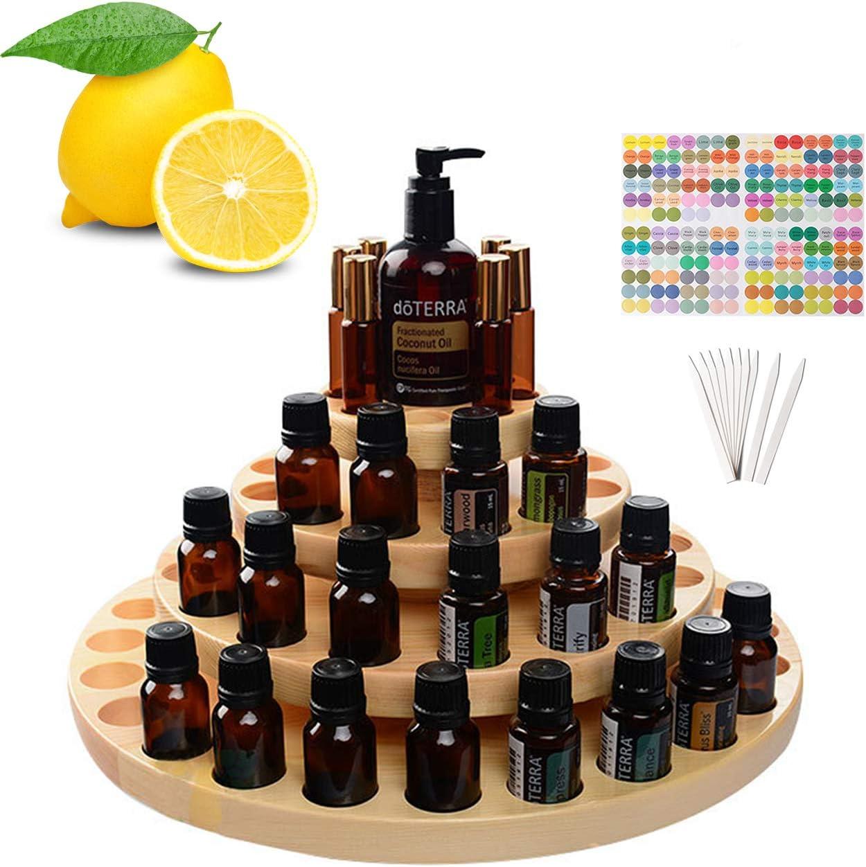 Songlela Expositor de Aceites Esenciales para 63 Botellas, Esmalte de Uñas Almacenamiento Organizador - Estante para Aceite Esencial Caso, Cosméticos, Viajes, Presentaciones y Más #7: Amazon.es: Hogar