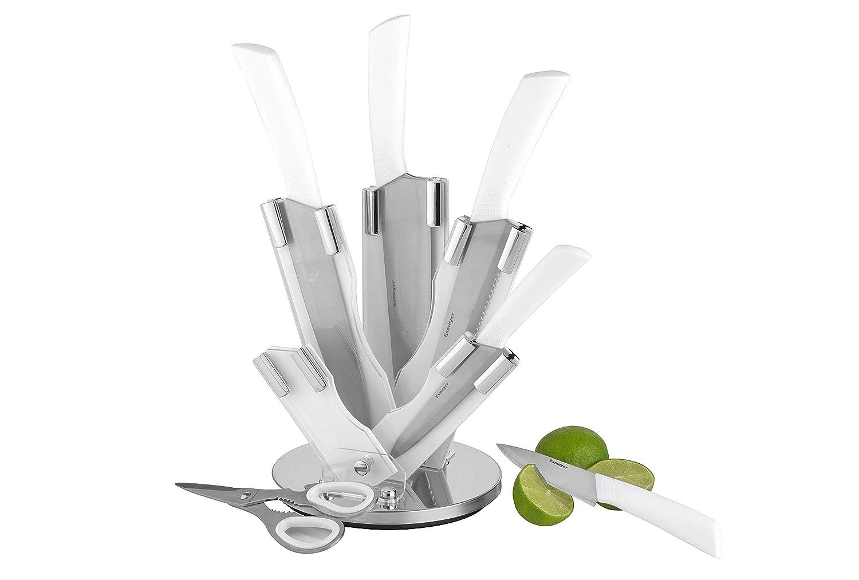 7-tlg. Messerset ATLANTIS  Klingen aus Spezialstahl, weiß e Kunststoffgriffe.  Im Geschenkkarton Esmeyer 291-522