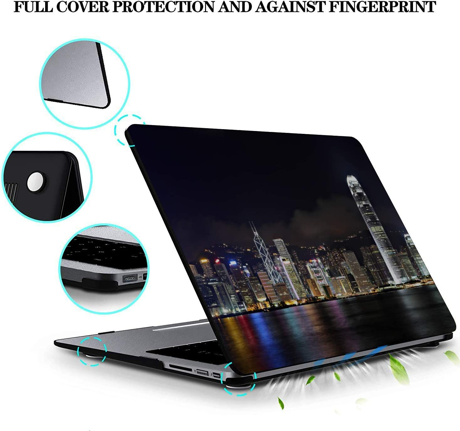 15 Inch Laptop Case Shining Quiet Beautiful City Night View Plastic Hard Shell Compatible Mac Air 11 Pro 13 15 MacBook Pro 2017 Case Protection for MacBook 2016-2019 Version