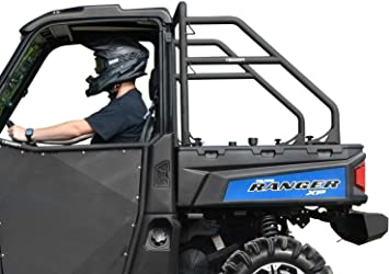 Amazon Com Superatv Heavy Duty Rear Roll Cage Support For Polaris Ranger Full Size Xp 570 Xp 900 Xp 1000 Diesel 1000 Crew See Fitment Wrinkle Black Automotive