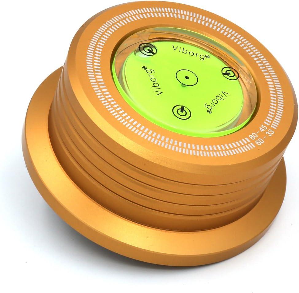 Viborg Audio/® 50Hz 528B Black 3/en 1/placa abrazadera LP Disc Stabilizer tornav/ía para las vibraciones ausgeglichen Tocadiscos Auflage Peso