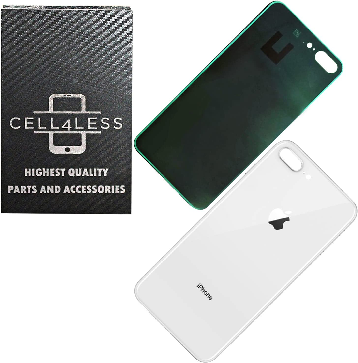 Space Gray CELL4LESS Compatible Replacement for The iPhone X Back Glass Cover OEM Quality Battery Door Replacement w//Adhesive /& Removal Tool