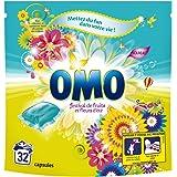 Omo Lessive Capsules Festival De Fruits Et Fleurs D'Eté 32 Dosettes - Lot de 2