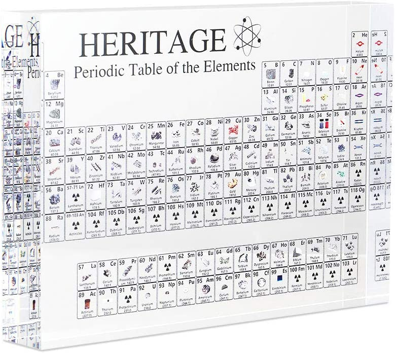 Periodic Table Display with Elements ,Bysoru Acrylic Periodic Table Display with Elements ,Student Teacher Gifts Crafts Decor