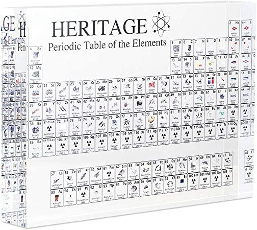 US Acrylic Chemical Elements Periodic Table Display Students Teachers Table Gift