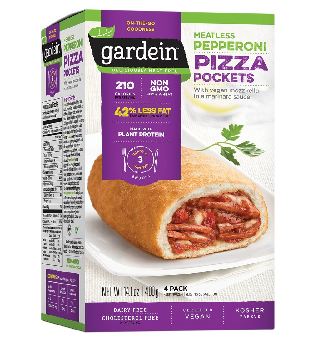 Gardein, Pizza Pocket Meatless Pepperoni, 14.1 Ounce