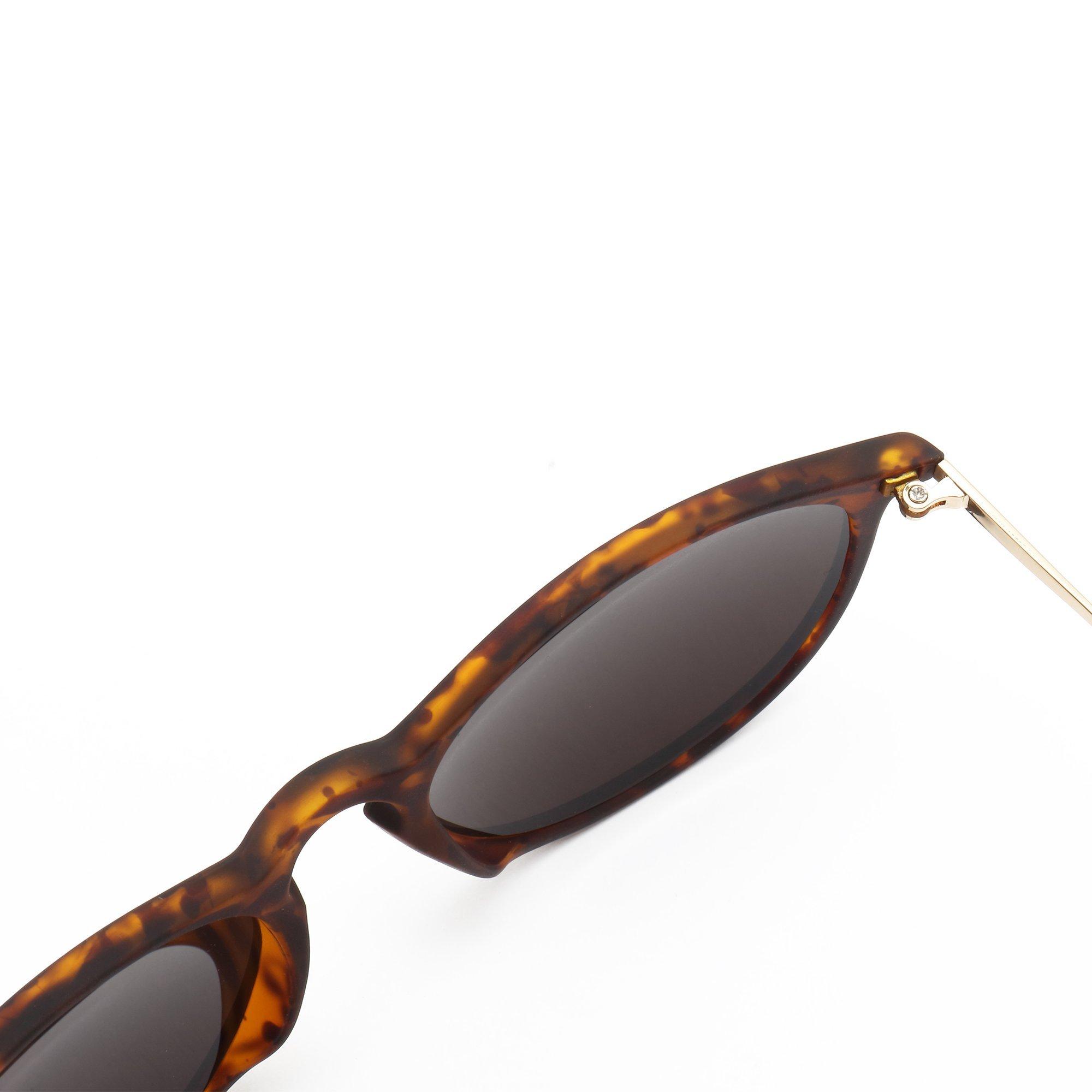 29e6f1ac2fc SUNGAIT Vintage Round Sunglasses for Women Erika Retro Style (Amber ...