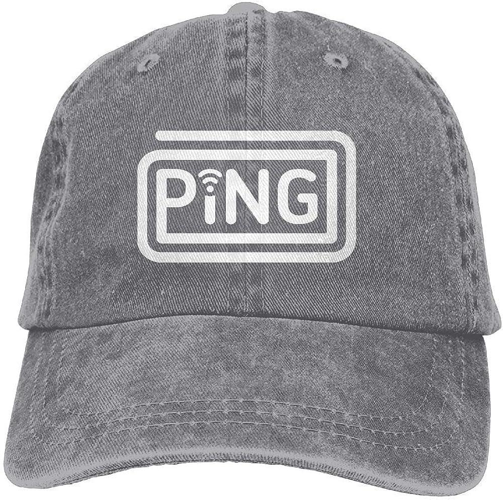 Tonesum Ping Unisex Baseball Cap Dad Hat Snapback Hats