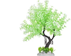 HITOP Pets Plastic Plants for Fish Tank Decorations Large Artificial Aquarium Decor