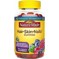 Nature Made Hair, Skin & Nails 2500 mcg Biotin Gummies w. Vitamin C, 90 Count (Packaging May Vary)