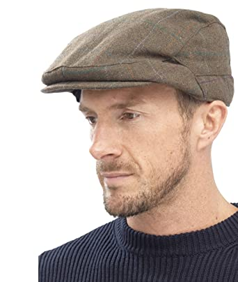 RJM Mens Warm Winter Vintage Country Flat Cap Hat  Amazon.co.uk  Clothing 58c51673e7d