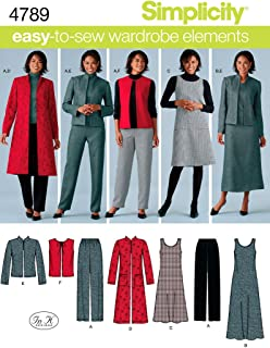 product image for Simplicity Easy-to-Sew 4789 Plus Size Pants, Vest, Jacket and Jumper Sewing Pattern for Women by In K Design, Sizes BB (20W -28W)