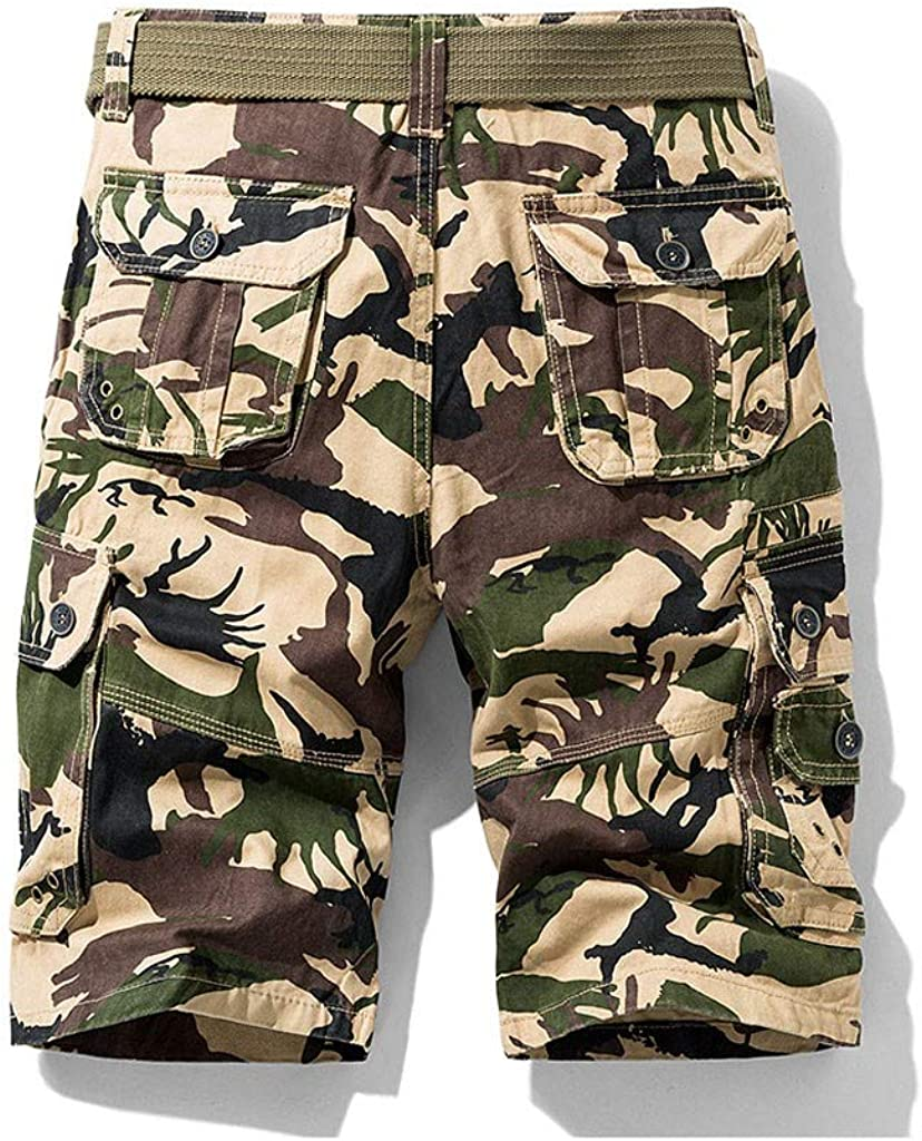 Sommer Herren Kurze Hose Camo Shorts Loose Fit Multi-Pocket-Shorts freizeit