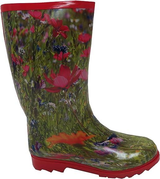 bottes caoutchouc fleurs