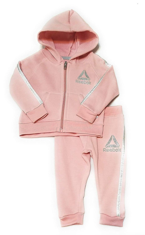 Reebok Baby Girls Delta Glitz 2 Piece Velour Jacket and Pant,