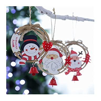 Amazon Com Lqjstore Christmas Tree Decoration Wooden