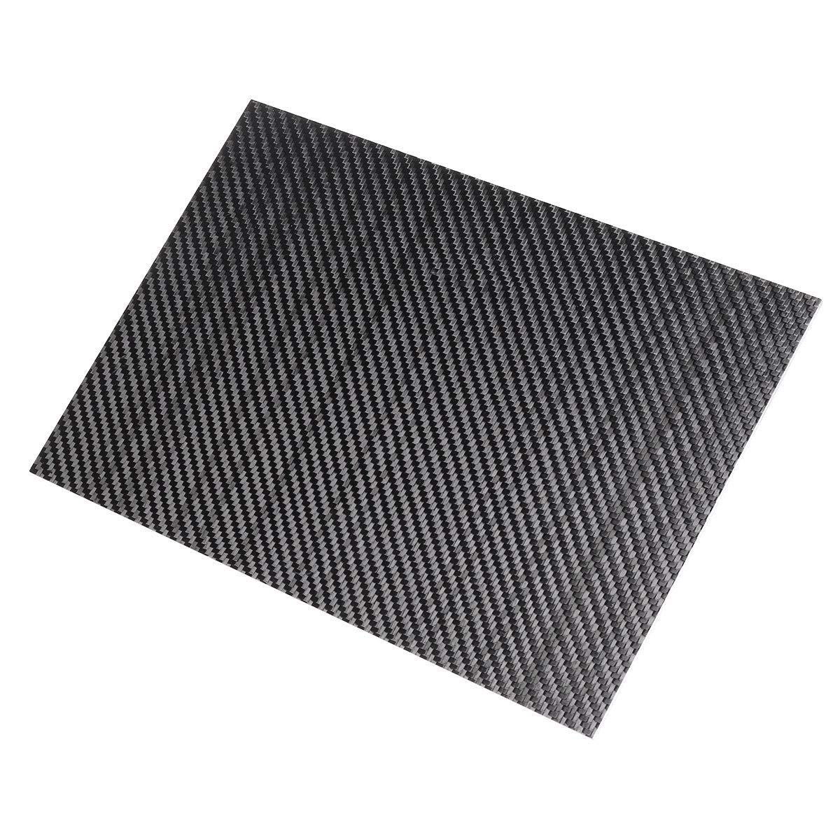 Stock_Home, Raw Materials, 300x500x(0.5-5) mm 3K Black Twill Weave Carbon Fiber Plate Sheet Glossy Carbon Fiber Board Panel High Composite RC Material - (Thickness:4mm)