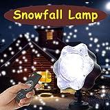 Projecteur Noël Projecteur exterieur led Effet de lumière de neige Décoration de Noël, avec télécommande Éclairage d'ambiance pour Noël intérieur et extérieur Lumière murale de jardin