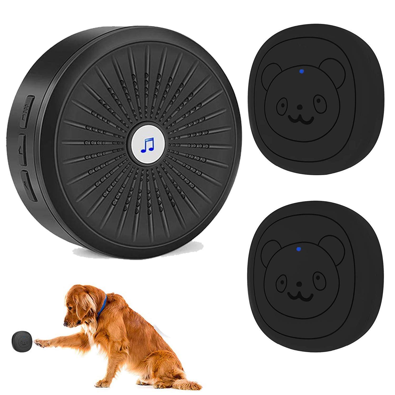 FFHPET Dog Training Door Bells,Dog Potty Communication Doorbell, Dog Door Bell with Wireless Touch Dog Bells(IP55 Waterproof ,Super-Light Press Button Doorbell)