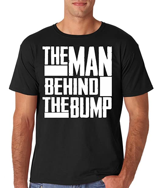 AW Fashions The Man Behind The Bump Father/Dad to Be Mens T-Shirt