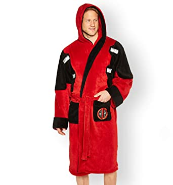 Groovy Uk Mens Deadpool Dressing Gown Red  Amazon.co.uk  Clothing 0a4f339a2