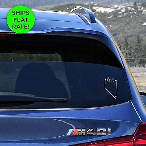 Nevada state love decal nv love car vinyl sticker add a