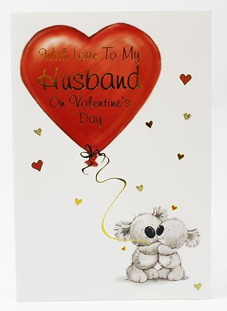 Para mi marido día de San Valentín tarjeta de felicitación calidad a él hombre Cute Koala