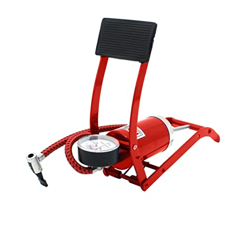 Portable Compact Foot Air//Multi-Purpose Pump inflator Great for Bike Tires New