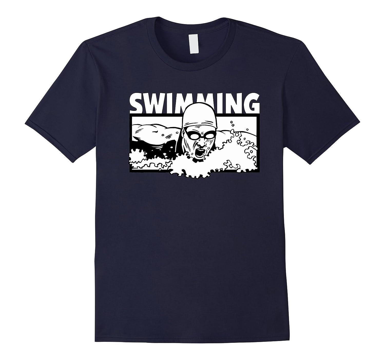 Swimming T Shirt For Swimmer Women Men Tee Shirts-Art