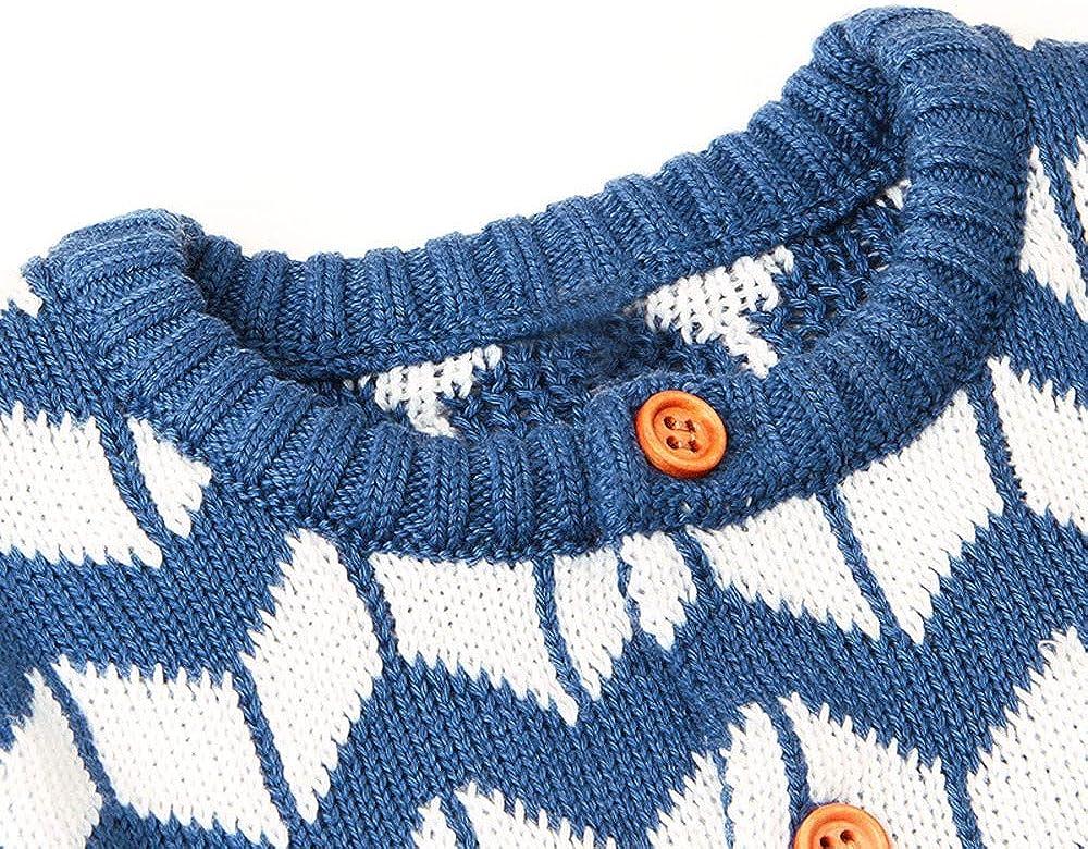 Lenfesh Baby M/ädchen Gestrickte Winter Strampler mit Kapuze Overall Outfits Kleidung Weihnachten warme Pullover f/ür die Herbst und Winter