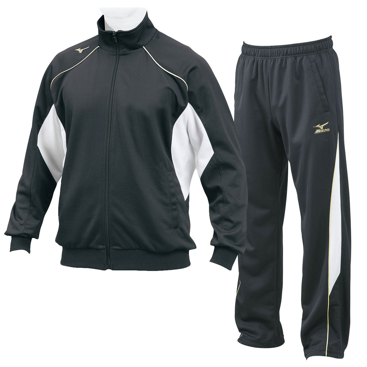 ミズノ(MIZUNO) グローバルエリート ウォームアップシャツ&パンツ 上下セット(ブラック) 12JC7R10-09-12JD7R10-09 B06WPB7WP5 2XO|ブラック ブラック 2XO