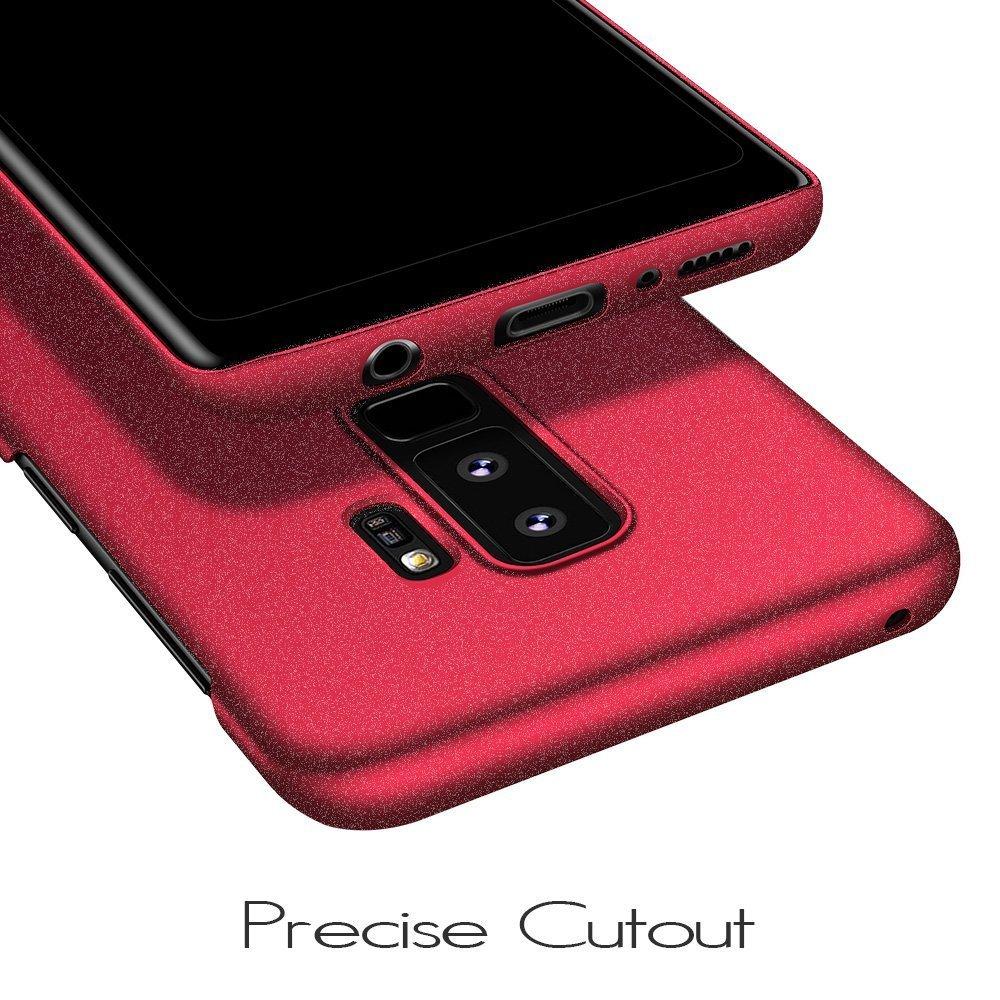 858d35b6c46 Samsung Galaxy S9 plus Funda, Almiao Fundas protectora delgada minimalista  para teléfono Estuches para Samsung Galaxy S9 plus (Grava roja):  Amazon.com.mx: ...