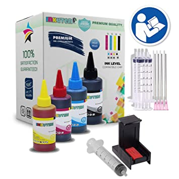 Amazon.com: inkuten completa Refill Kit for HP 63 HP63 X L ...