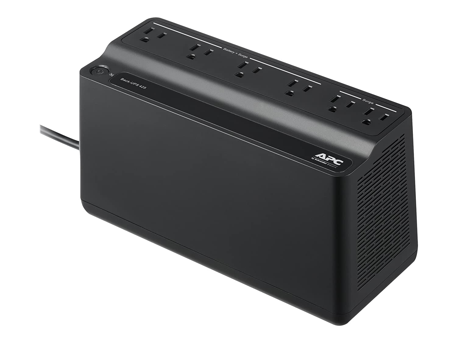 APC UPS Battery Backup & Surge Protector, 425VA, APC Back-UPS (BE425M)