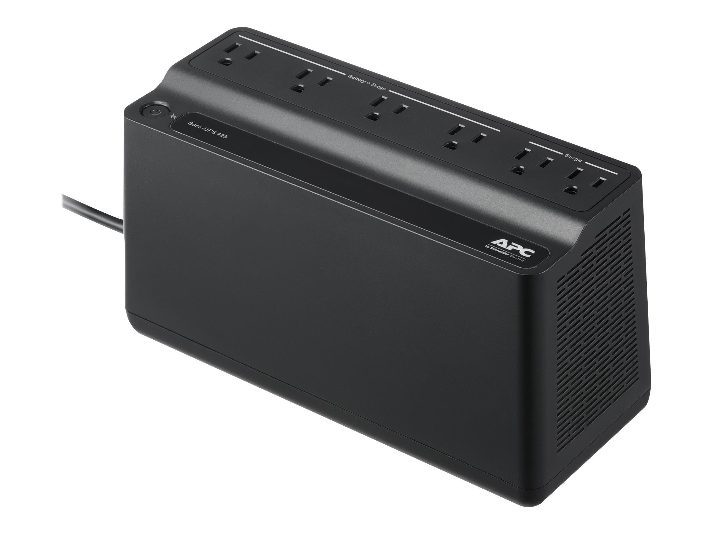 APC UPS 425VA UPS Battery Backup & Surge Protector, APC UPS BackUPS (BE425M)