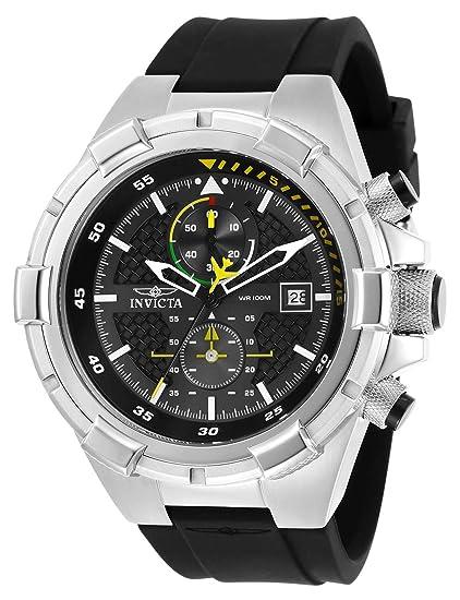 Invicta Aviator Reloj de Hombre Cuarzo Correa de Poliuretano Color Negro 28102: Amazon.es: Relojes