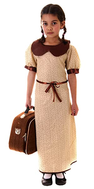 amazon 10 12 years evacuee girl war time fancy dress costume