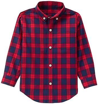 4f5eb95a3 Amazon.com: Janie & Jack Red Family Plaid Top Baby Boys: Clothing