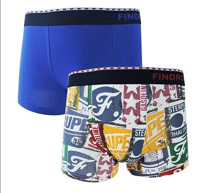 FINDROAD Ropa interior Calzoncillos Boxer para Hombre ((M-paquete de 2)