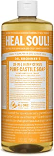 product image for Dr. Bronner's - Pure-Castile Liquid Soap (Citrus, 32 ounce) - Made with Organic Oils, 18-in-1 Uses: Face, Body, Hair, Laundry, Pets and Dishes, Concentrated, Vegan, Non-GMO