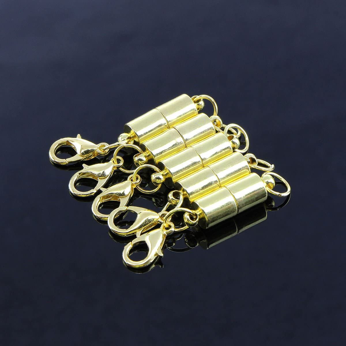 ULTNICE 20Pcs Gold Magnetic Lobster Clasp for Necklace Bracelet Jewelry Making